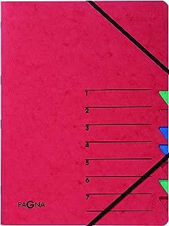 Pagna Easy 分类文件夹 纸板 A4 7-teilig 红色