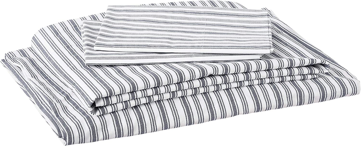 Nautica Percale Collection Organic Bed Sheet Set