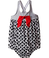 Armani Junior - Heart and Stripe One-Piece Swimsuit (Infant)