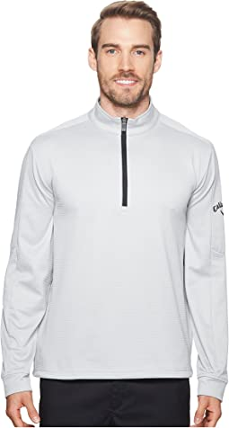 Heather Waffle-Fleece 1/4 Zip Midlayer