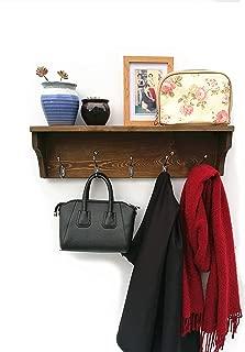 solid walnut coat rack