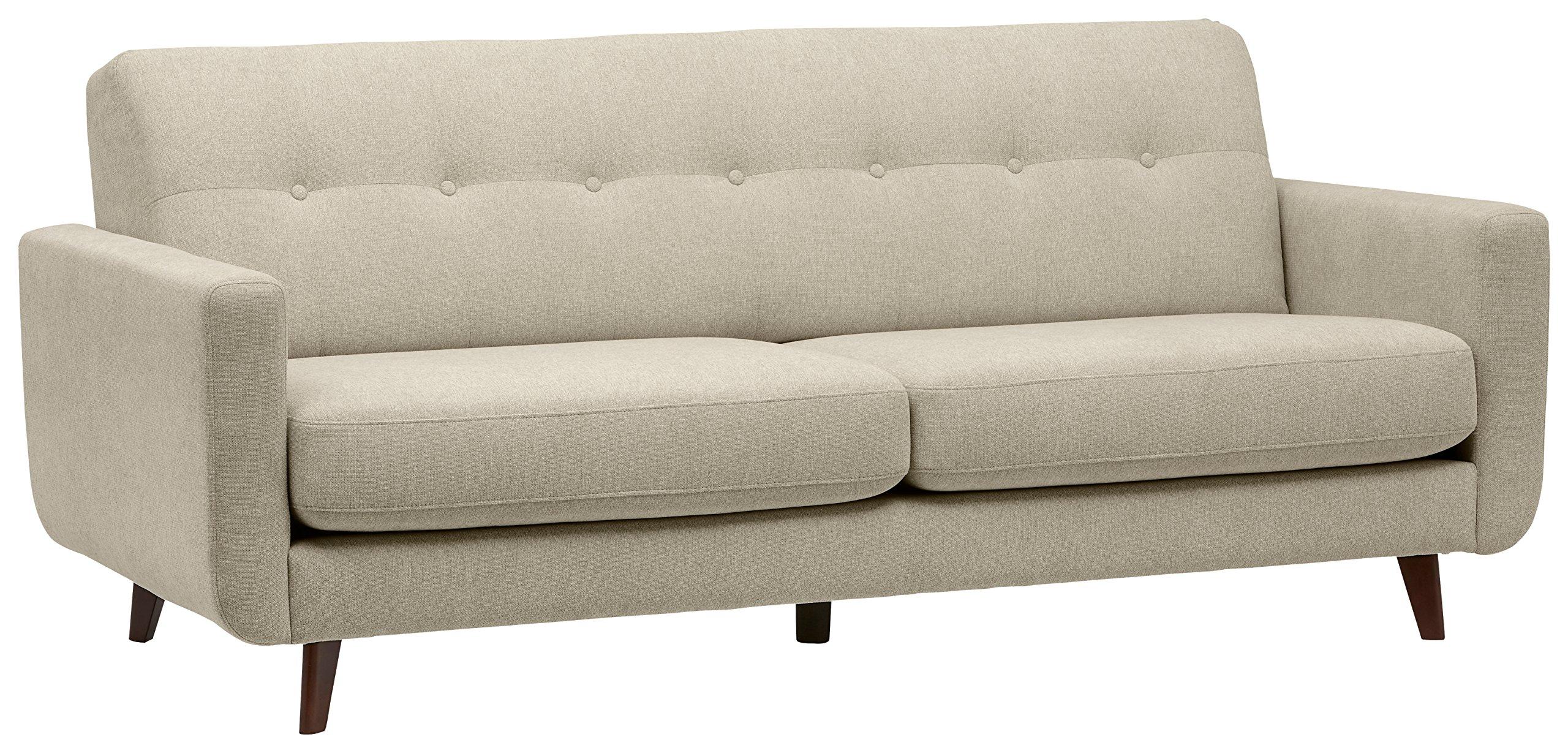 "Amazon Brand – Rivet Sloane Mid-Century Modern Sofa Couch, 79.9""W, Shell"