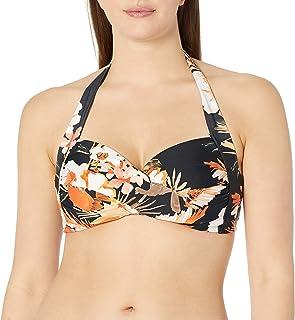 Seafolly Women's Twist Front Soft Cup Halter Bikini Top Swimsuit