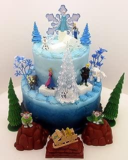 FROZEN 35 Piece Frozen Cake Topper Set Featuring 2