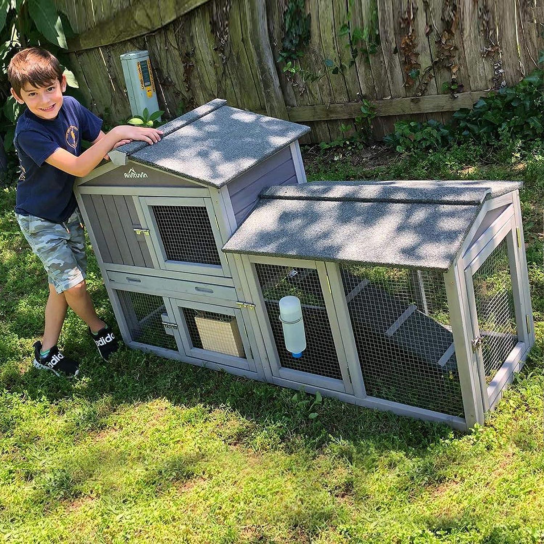 Buy Aivituvin Rabbit Hutch Indoor Bunny Cage Outdoor Infinitely ...