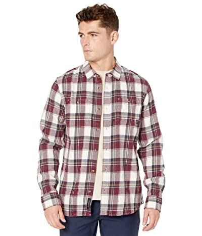 Vans Banfield III Flannel Shirt (Antique White/Port Royale) Men