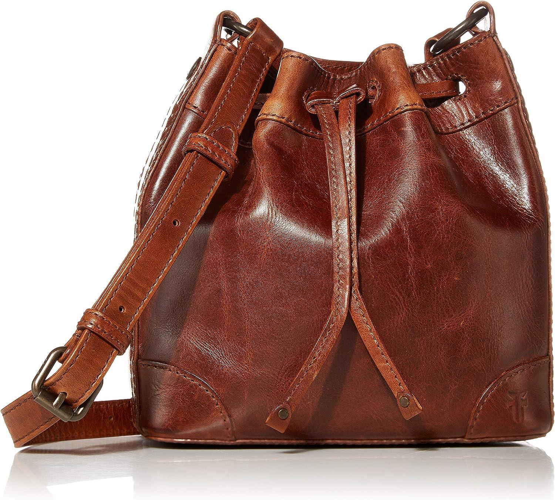 Frye Melissa Leather Drawstring Bucket Crossbody Bag