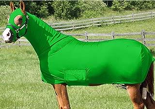 Horse Full Body Sleazy/Slicker / Sheet/Blanket with Full Separating Zipper X-Large/Lime Green