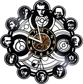 Iskra Shop Doctor WHO - Characters - Vinyl Wall Clock - Get Unique Gifts Presents for Birthday, Christmas, Ideas for Boys, Girls, Men, Women, Adults, him and her - Sport Unique Art Design
