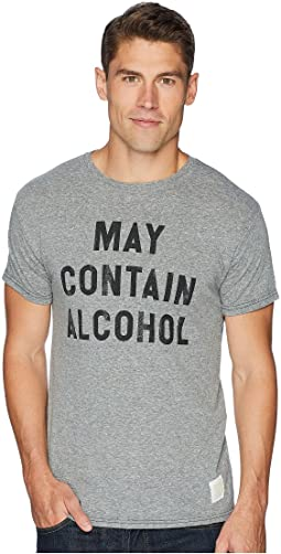 May Contain Alcohol Vintage Tri-Blend Tee