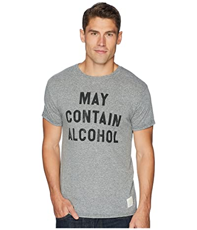The Original Retro Brand May Contain Alcohol Vintage Tri-Blend Tee (Streaky Grey) Men