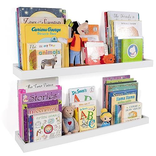 e25b66758d9 Wallniture Philly Nursery Bookshelf - Floating Book Shelves for Kids Room -  31 Inch Picture Ledge