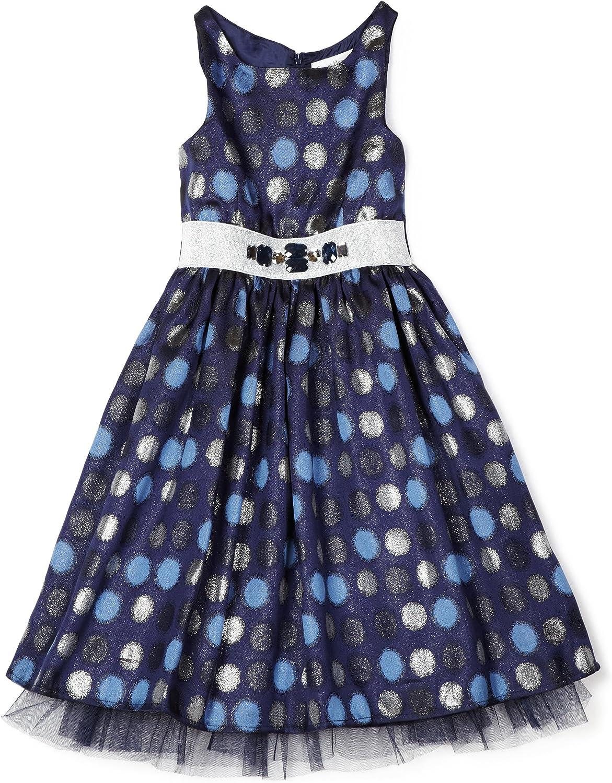Sweet Heart Rose Big Girls' Sparkle Dot Jaquard Dress