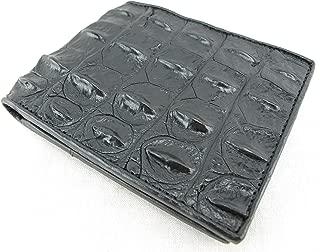 Genuine Crocodile Alligator Backbone Skin Leather Bifold Wallet