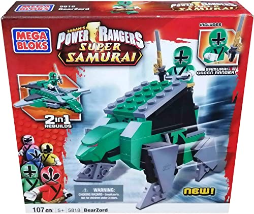 Mega Bloks Power Rangers Samurai BearZord Play Set