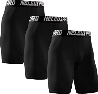 Neleus Men's 3 Pack Performance Compression Shorts