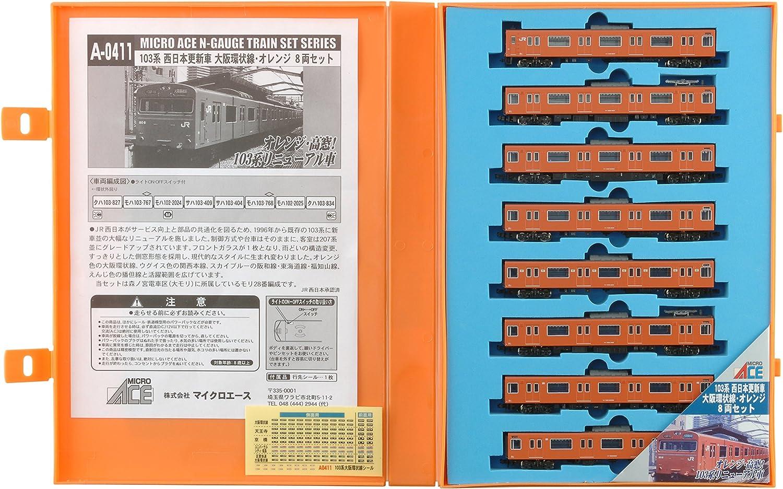 Con precio barato para obtener la mejor marca. N gauge A0411 103 series West Japan renewal Coche Coche Coche Osaka loop line   8 naranja (japan import)  punto de venta