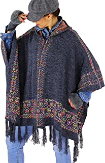 Nouvelle Femmes Tricot Tricot Poncho 3 Bouton Wrap Warm Cape Taille Unique 8-14