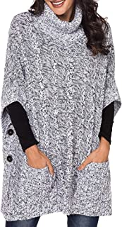 Best button side poncho Reviews