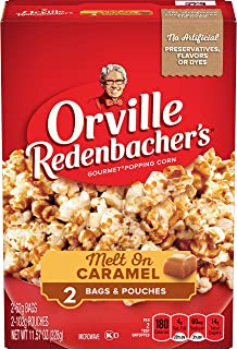 Orville Redenbacher's Melt On Caramel Microwave Popcorn, 2.19 Ounce Classic Bag, 2-Count, Pack of 12
