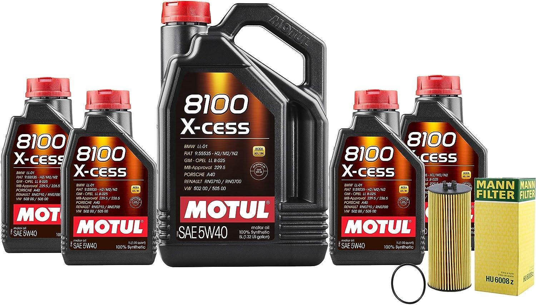 Newparts 9L Tulsa Mall Miami Mall 8100 X-Cess 5W40 Filter Change S5 Kit Oil Motor W221