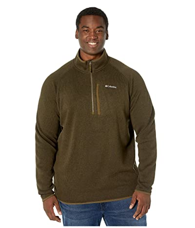 Columbia Big Tall Canyon Pointtm Sweater Fleece 1/2 Zip (Olive Green) Men