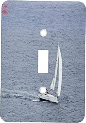 Spain Single Toggle Switch 3dRose LSP/_107498/_1 Sailing Boat Makes a Turn in Mediterranean Sea Formentera Multicolor