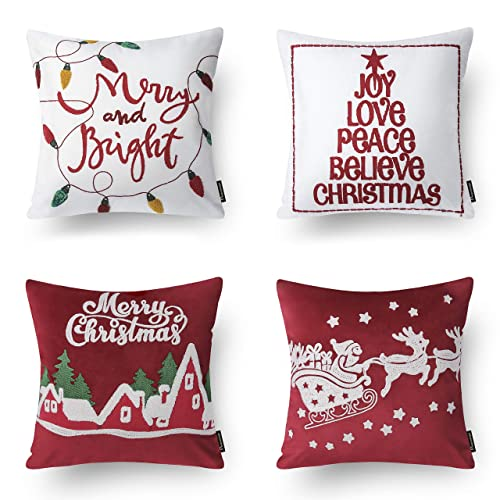 Christmas Pillows.Red Christmas Pillows Amazon Com