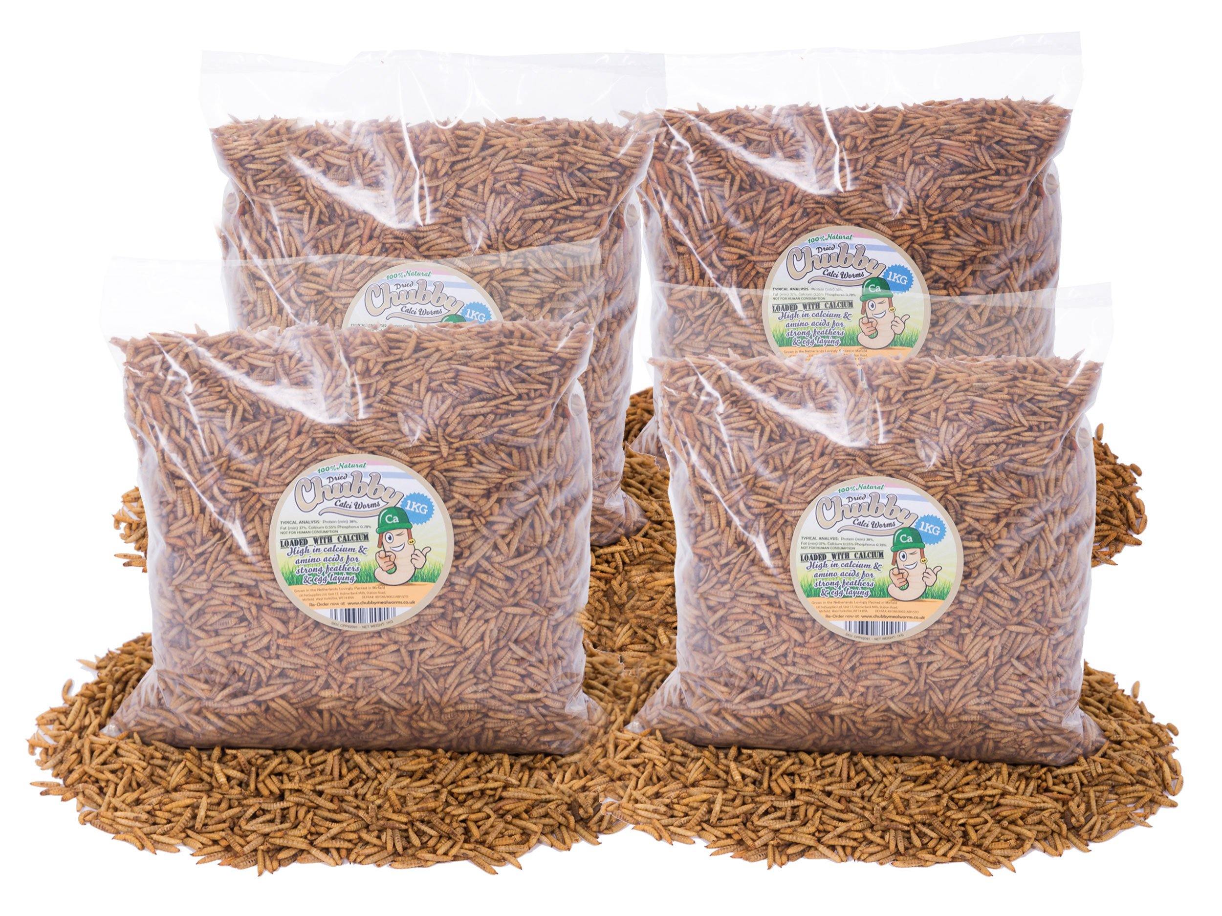 Chubby Mealworms Dried Silkworm Pupae 5 Litre