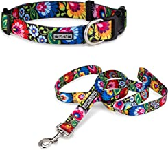 Lucky Love Dog Cute Female Dog Collar Leash Set   Vivid Colorful Pretty and Unique Designs   Small Medium Large Girl Dogs   Floral Chevron   Soft Your Purchase Helps Rescue Dogs