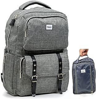 Smart Business Travel Laptop USB Anti-Theft Backpack/w Combo Lock + Organizer