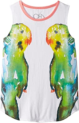 Vintage Jersey Mirrored Birds Tank Top (Little Kids/Big Kids)