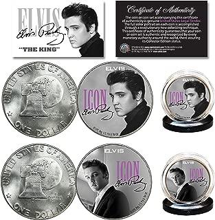 ELVIS PRESLEY Icon Official 1976 Bicentennial IKE Eisenhower Dollar 2-Coin Set