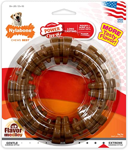 high quality Nylabone popular Power Chew Textured Dog Chew outlet sale Ring Toy outlet sale