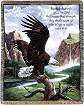 Manual Inspirational Collection 50 x 60-Inch Tapestry Throw with Verse, Freedom by Linda Pickens,