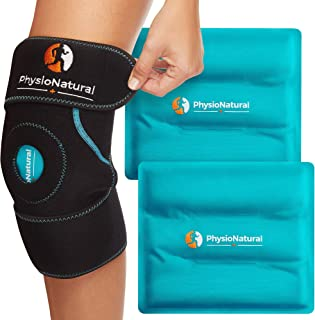 Knee Ice Pack Wrap - Cold Therapy with Adjustable Compression Support for Joint Pain, Injuries, Bursitis Pain Relief, Knee...