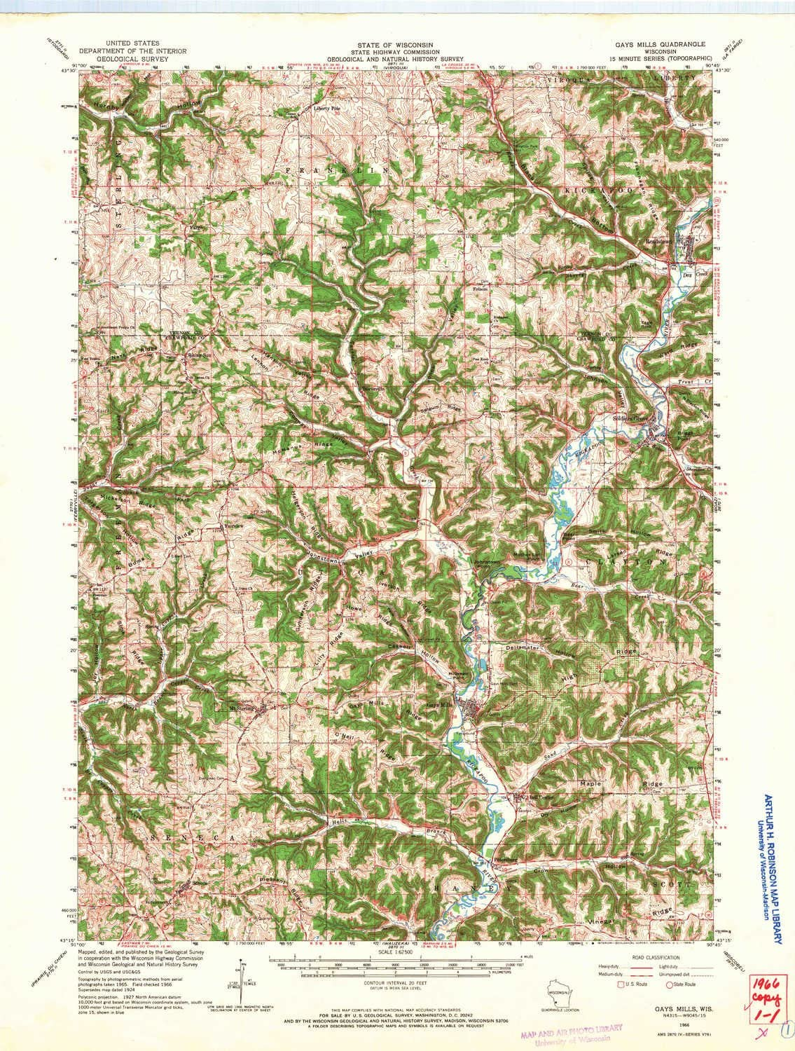 YellowMaps Super intense SALE Gays Mills WI topo Ranking TOP11 map Scale X 1:62500 Minute 15