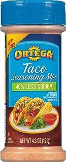 Ortega Seasoning Mix, 40% Less Sodium Taco, 4.3 Ounce