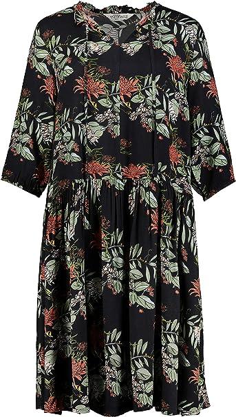 Studio Untold Damen Ulla Popken Grossen Blumenprint Kleid Studio Untold Amazon De Bekleidung