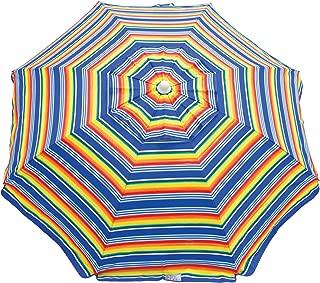 Rio Beach 6-Foot UPF 50+ Beach Umbrella with Built-in Sand Anchor