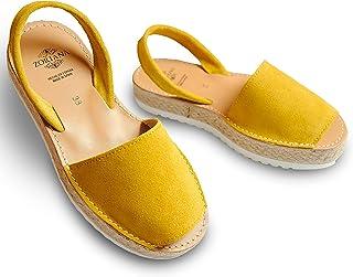 صندل مستور أنيق للسيدات من زوريانا – أحذية عيد أم جلد طبيعي رائع لفستان او مصيف - حذاء طبي نسائي اسباني