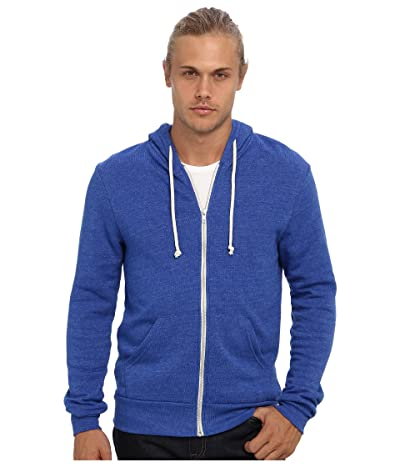 Alternative Rocky Zip Hoodie (Eco True Pacific Blue) Men