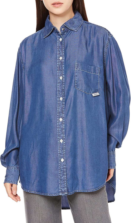 GUESS Women's Eco Long Sleeve Pauleta Denim Shirt