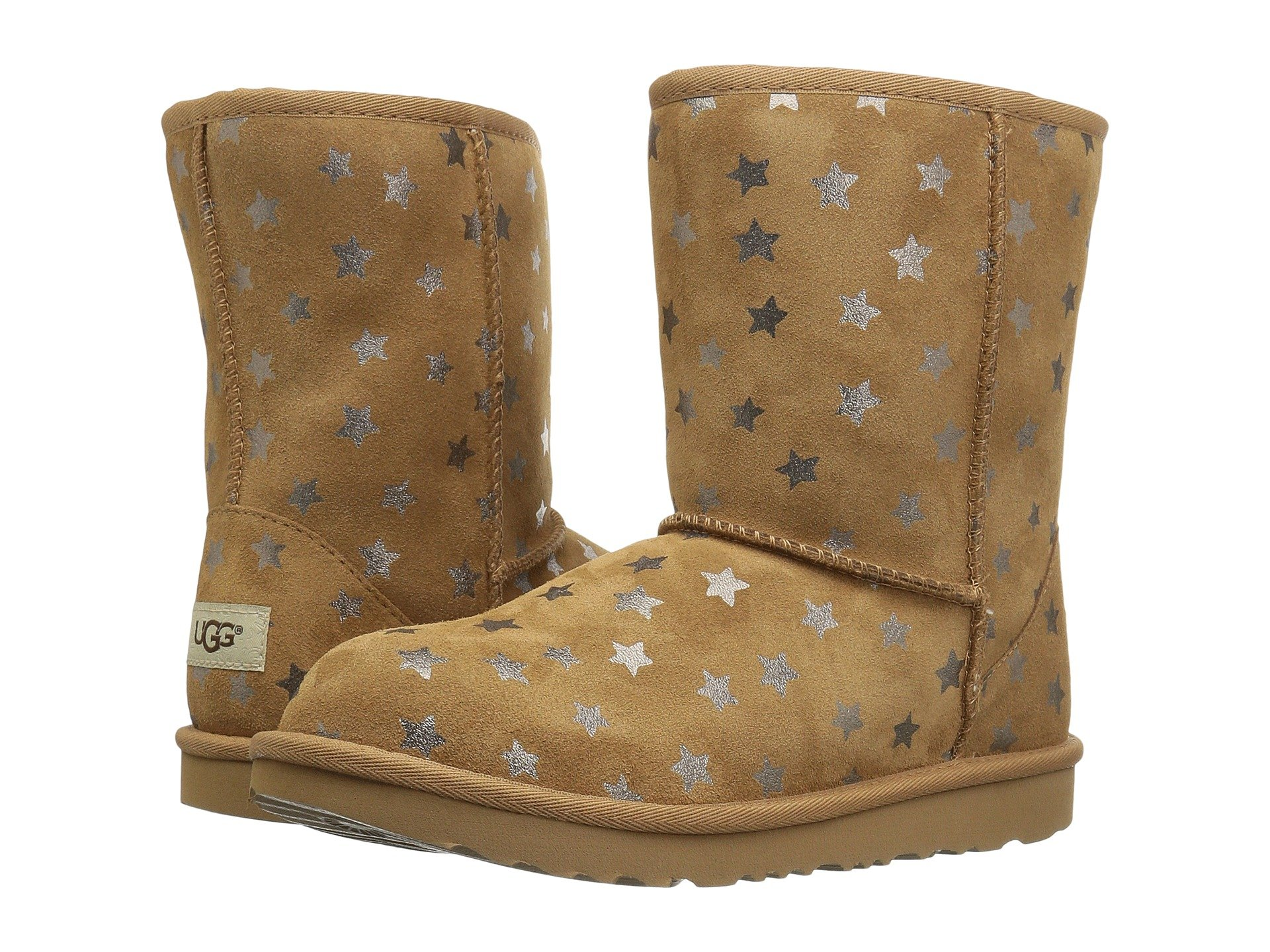 Ugg classic short shoes shipped free at zappos view more like this ugg kids classic short ii stars little kidbig kid nvjuhfo Gallery