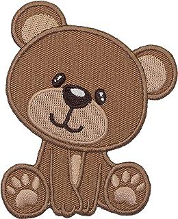 PatchMommy Bär Teddybär Patch Aufnäher Applikation Bügelbild - zum Aufbügeln oder Aufnähen - für Kinder/Baby