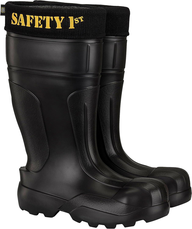 Safety 1st Ultralight Mens Black Industry No. 1 Toe Steel Anti-Pentration Kevla Arlington Mall