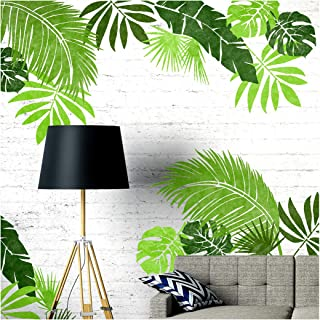 JUNGLE LEAF SET OF 6 Furniture Wall Floor Stencils for Painting - Furniture Large