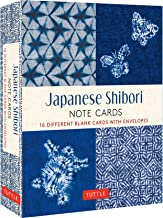 Japanese Shibori, 16 Note Cards: 16 Different Blank Cards with 17 Patterned Envelopes