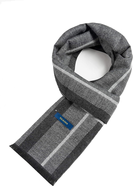 SILKZON Scarf Premium Cashmere Feel-Cotton Scarves for Winter