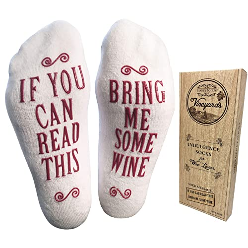 Luxury Combed Cotton Bring Me Some Wine Socks